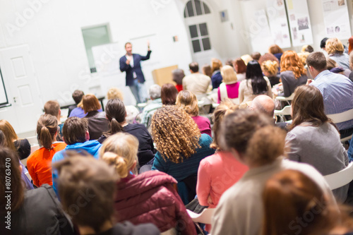 Audience in the lecture hall. - 80763470