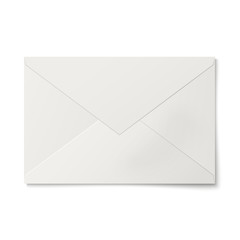 Sealed white envelope isolated