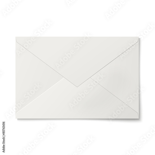 Sealed white envelope isolated - 80763616