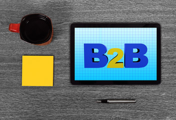 touch pad with b2b