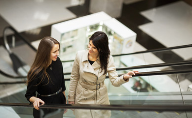 two young businesswomen talking
