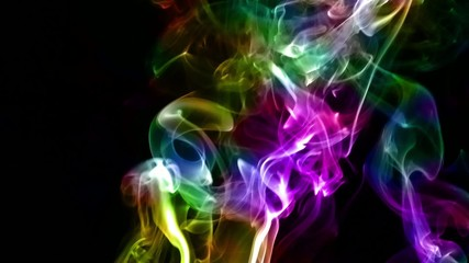 Abstract Fluid Colorful Smoke Turbulance Element