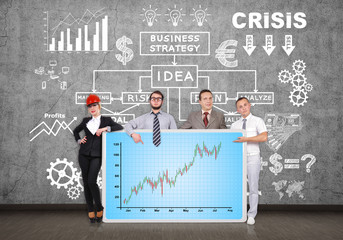 panel with forex chart