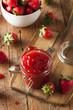 Leinwandbild Motiv Homemade Organic Strawberry Jelly