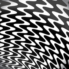 Grayscale, Black and White Lines / Shapes Background with Strong