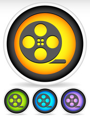Icon with Film Roll Symbol