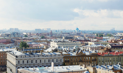 Cityscape of the Saint-Petersburg, Russia. View from above
