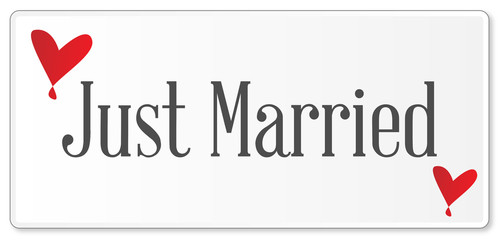 Just Married Plaque