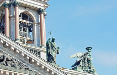 Sculptures on Saint Isaac Cathedral, St. Petersburg, Russia