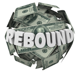 Rebound 3d Word Money Cash Ball Sphere Increase Improve Investme