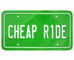 Cheap Ride Car Vehicle License Plate Lowest Price Economical Aut