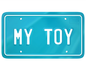 My Toy License Plate Car Collector Hobby Automobile Restoration