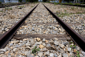 Railroad in north of Thailand