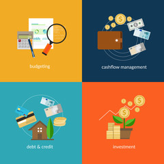personal finance icon flat