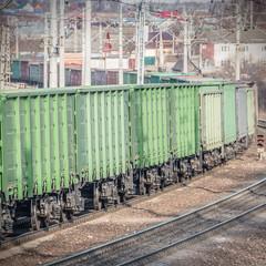 Long empty train.
