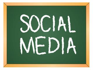 social media word on chalk board