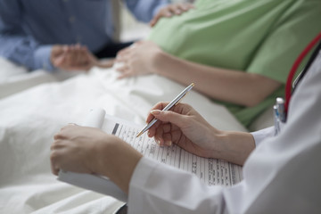 Examination of pregnant women in the hospital
