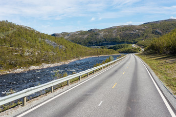 Route E69 in Finnmark, Northern Norway