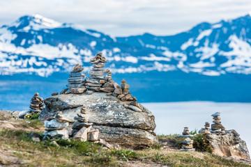 Mount Storsteinen in Norway.
