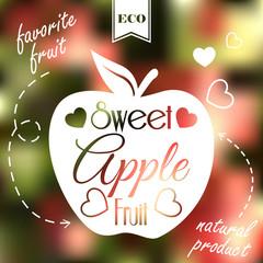 Sweet apple on blur background