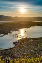 Midnight Sun in Tromso, Norway.