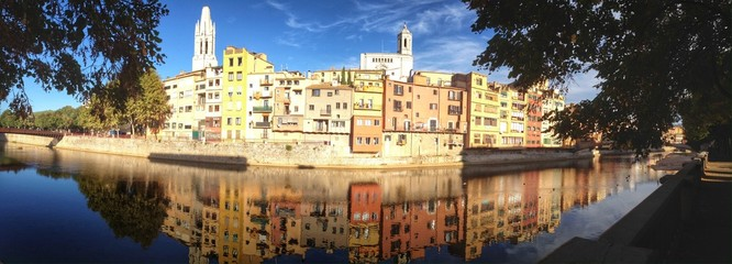 View of the city of Girona in Spain