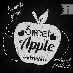 Apple on chalkboard