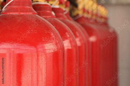CO2 fire extinguishers in a petrochemical plant. - 80768286