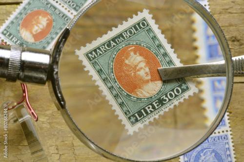 Poster Marca da bollo Revenue stamp Timbre fiscal