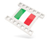 Movie icon with flag of italy
