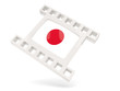 Movie icon with flag of japan