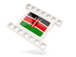 Movie icon with flag of kenya
