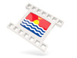 Movie icon with flag of kiribati