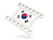Movie icon with flag of south korea
