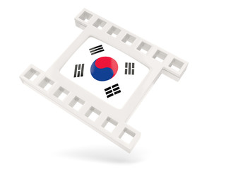 Movie icon with flag of south korea