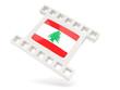 Movie icon with flag of lebanon