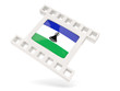 Movie icon with flag of lesotho