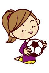 サッカーが大好きな女の子