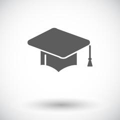 Education flat icon.