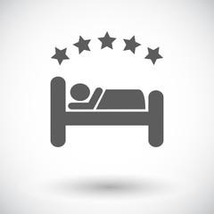 Hotel single flat icon.