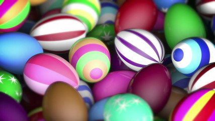 Colorful easter eggs festive background