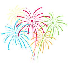 Fireworks vector on white background