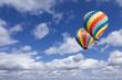 Leinwandbild Motiv Hot Air Balloons In The Beautiful Blue Sky