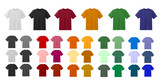 Big t-shirt templates collection of different colors mouse pad