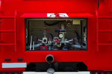 Fire truck. Pumping equipment.
