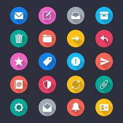 Email simple color icons
