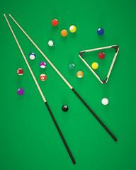 3d illustration elements of billiard balls