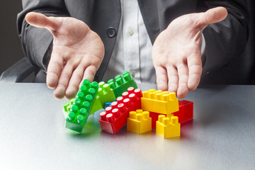 playing with management bricks