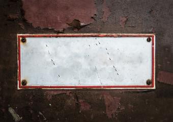Grungy Blank Street Sign