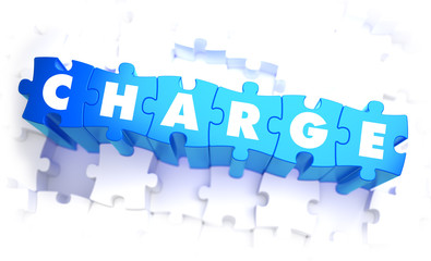 Charge - White Word on Blue Puzzles.